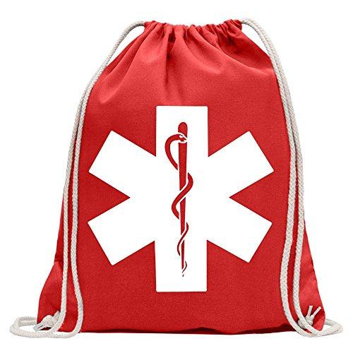 Kiwistar - Krankenhaus - Notfallaufnahme Turnbeutel Fun Rucksack Sport Beutel Gymsack Baumwolle mit Ziehgurt