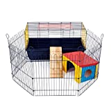 LITTLE FRIENDS Indoor Rabbit 80 Cage with Run: Ideal for Rabbits & Guinea Pigs