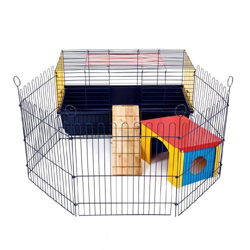 Little Friends Indoor Coniglio 80Gabbia con Run: Ideale per Conigli e porcellini d' India