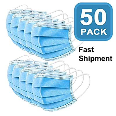 (Pack of 50?Disposable F?ce M?sks for Children and Adults-Ideal Medic?l Mouth M?sks (Blue)