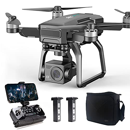 Drones with Camera for Adults 4K, LARVENDER F7 9842FT Long Range FPV Transmission Drone with 3-Axis Gimbal Camera, 2 Batteries 50Mins Flight Time GPS Auto Return, Drones for Adults with Carrying Case