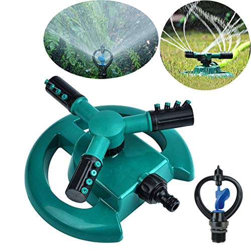FBAY Lawn Sprinkler Garden Sprinkler Head Automatic Water Sprinklers 360 Degree Rotating Adjustable Sprinkler Lawn Irrigation System with Butterfly Nozzle (Green)