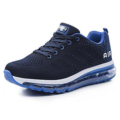 Unisex Herren Damen Sneakers Sportschuhe Bequeme Laufschuhe Schnürer Air Running Shoes 35-45(833BL44)