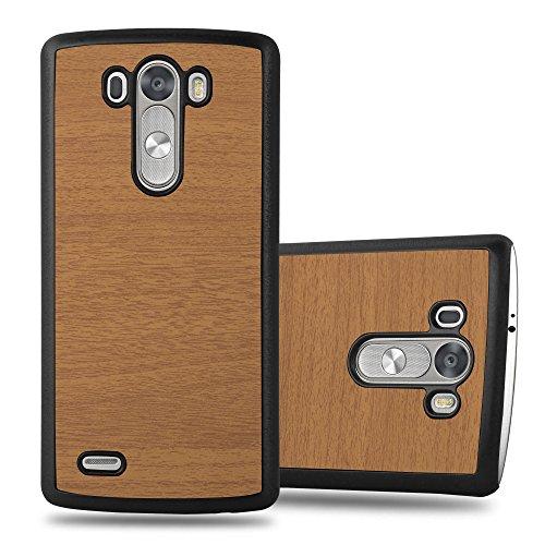 Preisvergleich Produktbild Cadorabo Hülle für LG G3 - Hülle in Woody BRAUN Hardcase Handyhülle in Vintage Holz Optik - Schutzhülle Bumper Back Case Cover