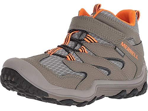 Merrell Chameleon 7 Mid Alternative Closure Waterproof Hiking Boot, Gunsmoke, 6 US Unisex Big Kid