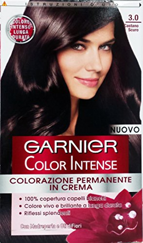 Teinture pour les cheveux color intense con olio di semi d'uva 3 brun sombre