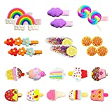 Hair Clips for Toddler Girls, 22Pcs Candy Rainbow Lollipops Barrettes Ice Cream Cute Hair Accessories Pretty Hairpins for Toddlers Kids Girls Children
