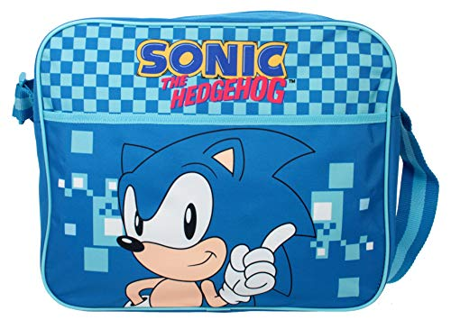 Sonic The Hedgehog Messenger Courier - Bolsa cruzada para el colegio
