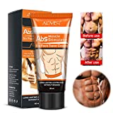 AL'IVER Men Powerful Abdominal Muscle Cream,Slim Cream,Fat Burner, Weight Loss Slimming Enhancer Workout