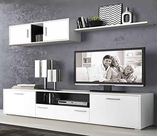 LIQUIDATODO - Muebles de Salon Modernos Color Blanco/Grafito - dimas