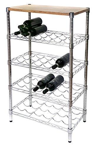 ARCHIMEDE Weinregal Wein Flaschenhalter, xbw3560in Stahl verchromt, Breite 60cm