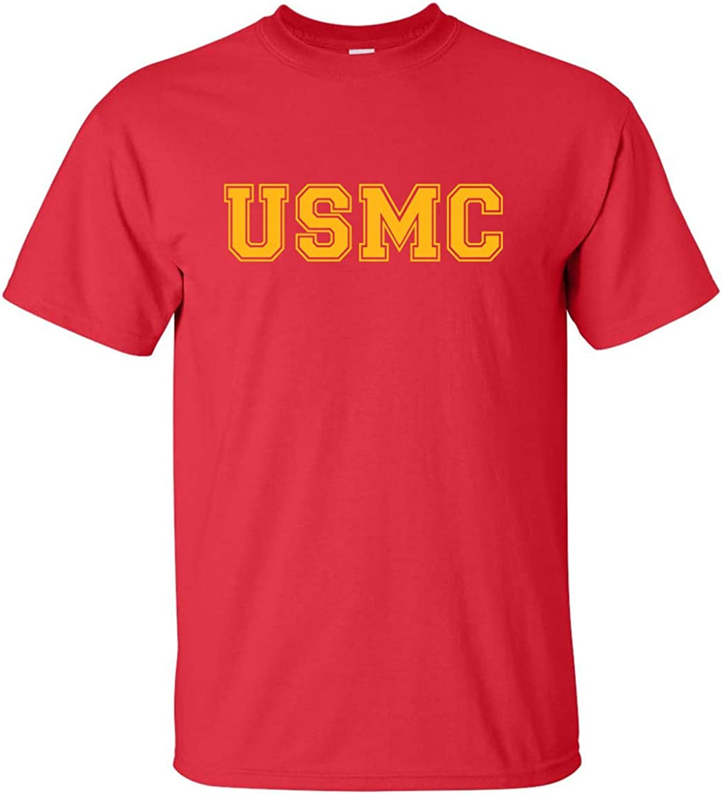zerogravitee USMC Athletic Gold Short Sleeve New item T-Shirt excellence Adult
