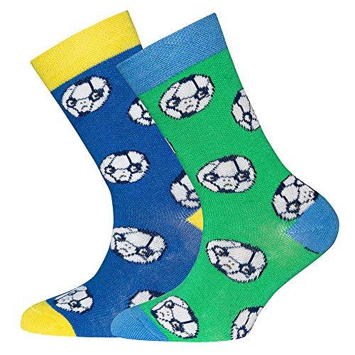 Ewers Baby- und Kindersocken für Jungen Fussball 2er Pack, MADE IN EUROPE, Socken Doppelpack Baumwolle