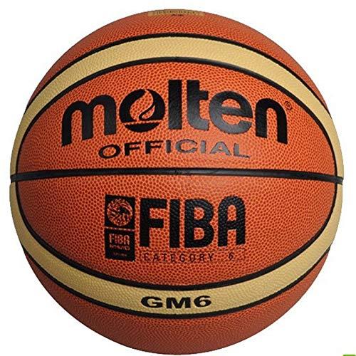 dingtian Ballon de Baloncesto Size6 Molten Basketball Gm6, PU Materi Mujeres Baloncesto Bomba De Bola