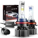 SEALIGHT 9007/HB5 LED Bulbs 14000LM Dual Bulbs X1 Series 6000K Xenon White Non-polarity