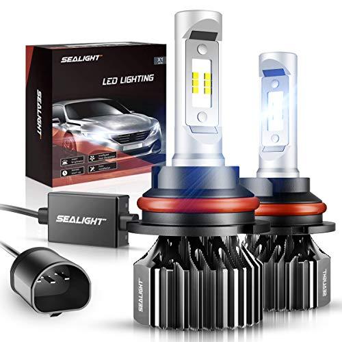 SEALIGHT 9007/HB5 LED Headlight Bulbs 12000LM Dual High/Low Beam Bulbs X1 Series 6000K Xenon White