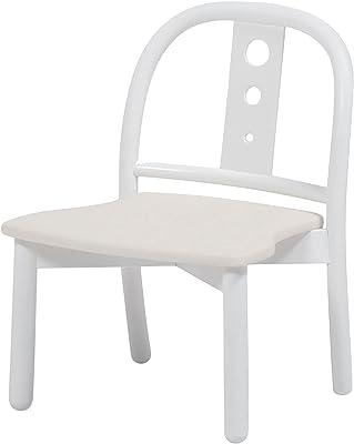 秋田木工 キッズチェア 幅33×奥行37.5×高さ45cm WH 曲木椅子 日本製 NO.101 WH/PVC-IV