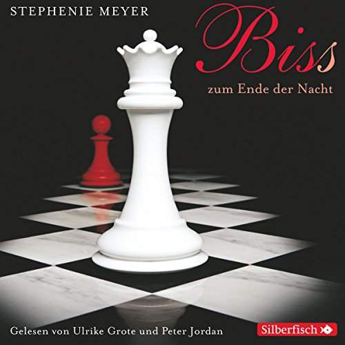 Bis(s) zum Ende der Nacht     Twilight-Saga 4              Written by:                                                                                                                                 Stephenie Meyer                               Narrated by:                                                                                                                                 Ulrike Grote,                                                                                        Peter Jordan                      Length: 9 hrs and 47 mins     Not rated yet     Overall 0.0