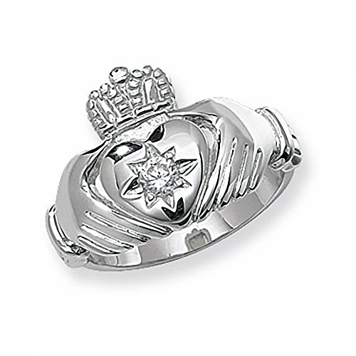 Claddagh Ring Men's Sterling Silver Gents Engagement - British Made - Hallmarked (Z)
