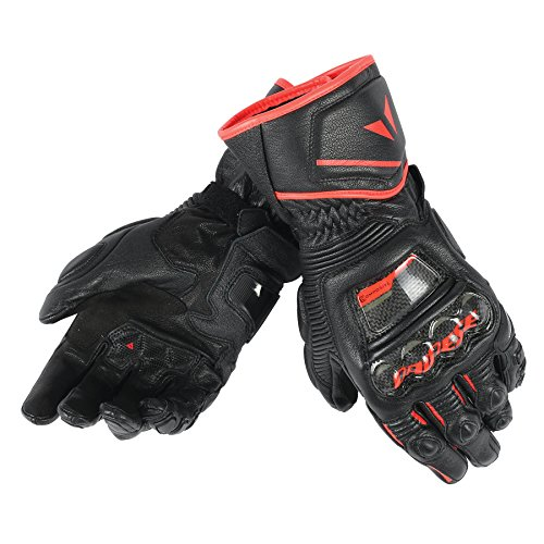 Dainese-DRUID D1 LONG Handschuhe, Schwarz/Schwarz/Fluo-Rot, Größe XXL