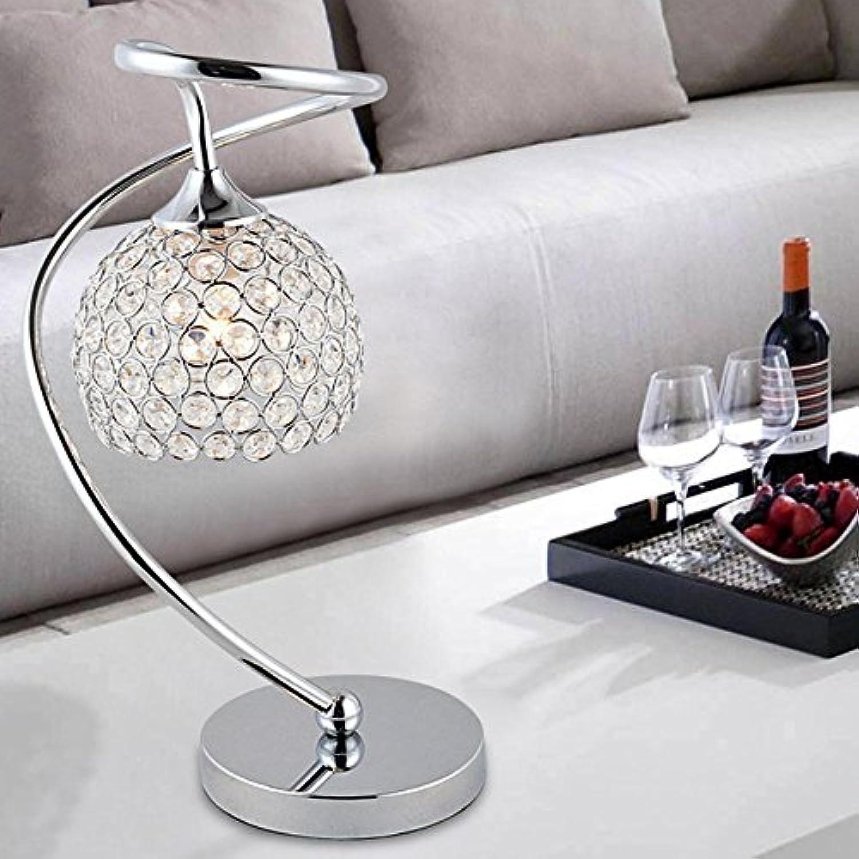 DENG LED, Kristall, Tischlampen, einfach, kreativ, Bett, Schlafzimmer, Wohnzimmer, Touch-Schalter, warmes Licht, Schreibtischlampe, Button Switch
