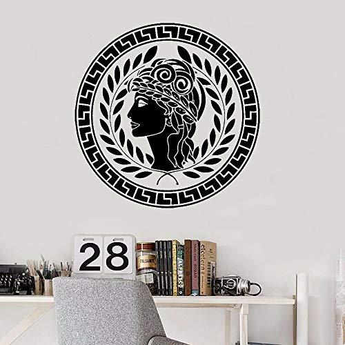 HGFDHG Antiguo Dios Etiqueta de la Pared Diosa Arte Puertas y Ventanas Pegatinas de Vinilo Dormitorio Sala de Estar Dormitorio Oficina decoración Interior Papel Tapiz