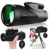 Apark Monocular Telescope,Apark High Definition Monocular for Adults Kids with Smartphone Holder & Tripod, Scope Compa.