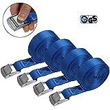Cinghia di fissaggio Cinghie di tensione - blu - 2,5m 4m 6m - diverse quantità, sicura de...