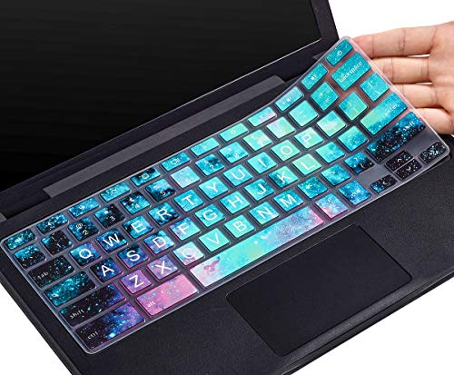 CaseBuy Keyboard Cover for Dell 11.6 Chromebook/Dell Chromebook 11 3100 3120 3180 3181 3189 5190 P22T 11.6\' / Dell Chromebook 13 3380 13.3 inch, Dell Chromebook Accessories(Upper CASE, Galaxy)