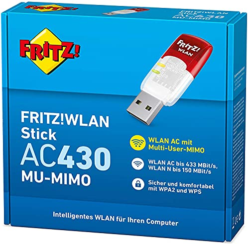 JIAN Fritz!WLAN Stick AC 430 MU-MIMO, hoher Qualität (Dualband-WLAN für 2,4-GHz- oder 5-GHz-Verbindungen)