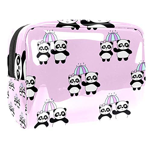 Maquillage Cosmetic Case Multifunction Travel Toiletry Storage Bag Organizer for Women - Cute Couple Panda