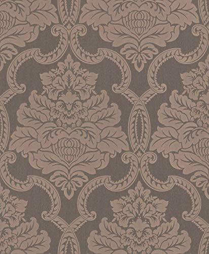 Casa Padrino Barock Textiltapete Grau/Rosa 10,05 x 0,53 m - Barock Tapete - Deko Accessoires