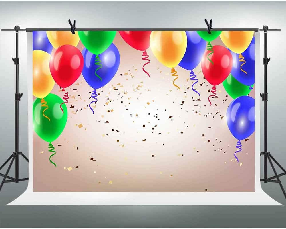 FHZON 20x20ft Colorful Balloons Photography Backdrops Birthday Background  Themed Party Wallpaper YouTube Backdrop Photo Booth Studio Props LSFH20