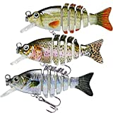 TRUSCEND - Señuelos de Pesca articulados de , nagori Fish for Bar Swimbait Glidebait con anzuelos Mustad Cebo Duro y Realista, Bass Lubina Señuelo para Pesca Spinning