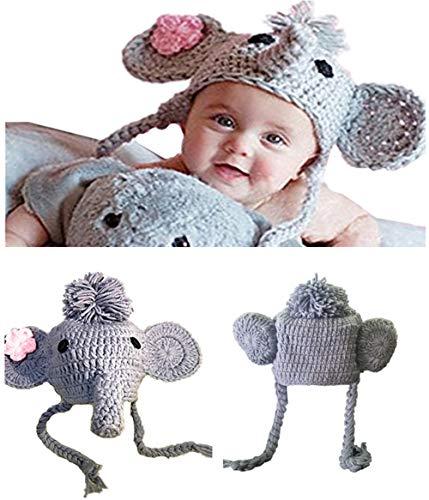 Ximkee Cute Newborn Baby Boy Girl Infant Crochet Elephant Costume Photo Photography Props 0-6 Months