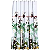 Beydodo Anti-Schimmel Duschvorhang 300x200 Affen Vintage Duschvorhang