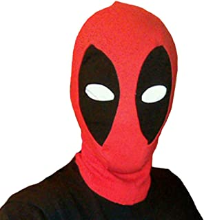 Halloween Cosplay Mask - Character Dead Pool Design Cosplay Mask Red