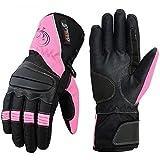 Gants de moto pour femme Rose Speed MAXX pour moto ou moto