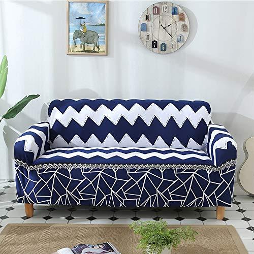 Ksainiy Blue Room Línea sofá de la onda del protector lavable de estar con todo incluido Sistema del sofá del sofá toalla cubierta completa del amortiguador del sofá chaise estiramiento Individual Dob