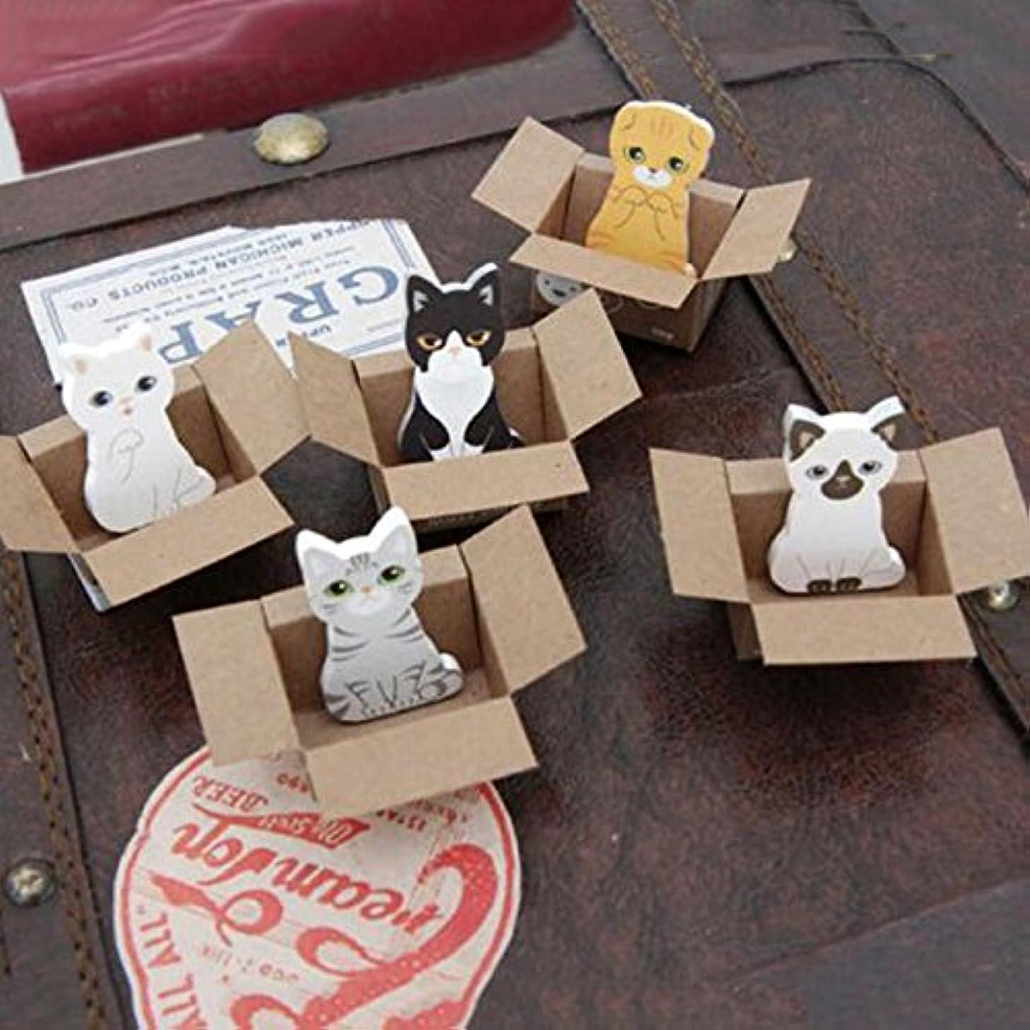 引くケント抱擁Jicorzo - 3pcsの/たくさんおかしい犬猫ステッカーホームデコレーションかわいい表デスクトップ装飾装飾は、それが紙に注意してください投稿します