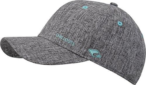 CHILLOUTS Cap Christchurch Hat hochwertige Hüte Mützen und Caps für Herren Damen und Kinder in 4 Farben, Farbe:Grey/Turquoise (CHR 04)