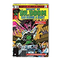 RCY-T What if Dr.Doom had Become a Hero Retro サイン, 軽量アルミ壁の装飾ヴィンテージサイン for Men Cave Coffee Bar Home Garage Movie 20x30cm