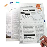 (2 Pack) MagniPros Large Full Page 3X Magnifier Premium Magnifying Sheet Fresnel Lens 7.5' X 10.5' with 3 Bonus Bookmark Magnifiers Ideal for Reading Small Prints & Low Vision Seniors
