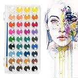 HONMIED Kit de Pintura de Acuarela de 36 Colores, Caja de Pintura de Acuarela Completo y Pincel, Juego de Acuarela para Principiantes Niños y Adultos Kit de Viaje de Acuarela