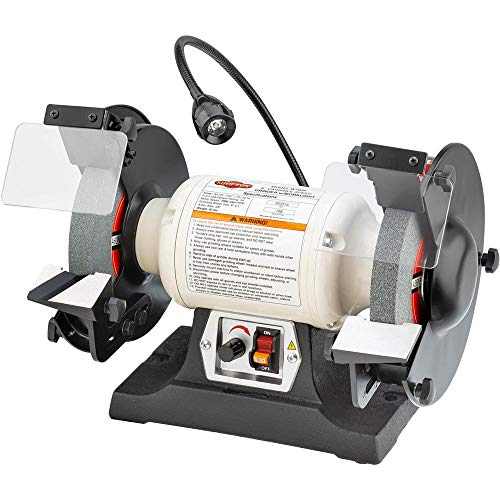 """Shop Fox W1840 Variable-Speed Grinder with Work Light, 8"""""""