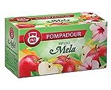 Pompadour 1913 Mezcla con sabor a manzana para infusión sin cafeína - 1 x 20 bolsitas de té (60 gramos)