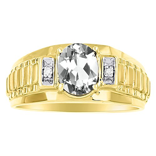 Diamante y anillo de aguamarina plata de ley o papel x diseño chapado en oro amarillo