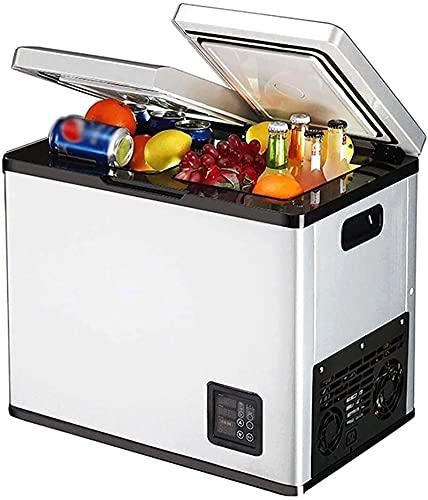 Pequeño refrigerador Congelador Mini Bar Frigorífico 18L Doble Puerta Control electrónico Control de temperatura Frigorífico Rápido enfriamiento más frío Calentador para automóviles Camiones y hogar