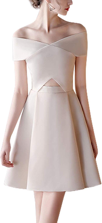 Inshine Women Off Shoulder Cocktail Party Wedding A-Line Dresses