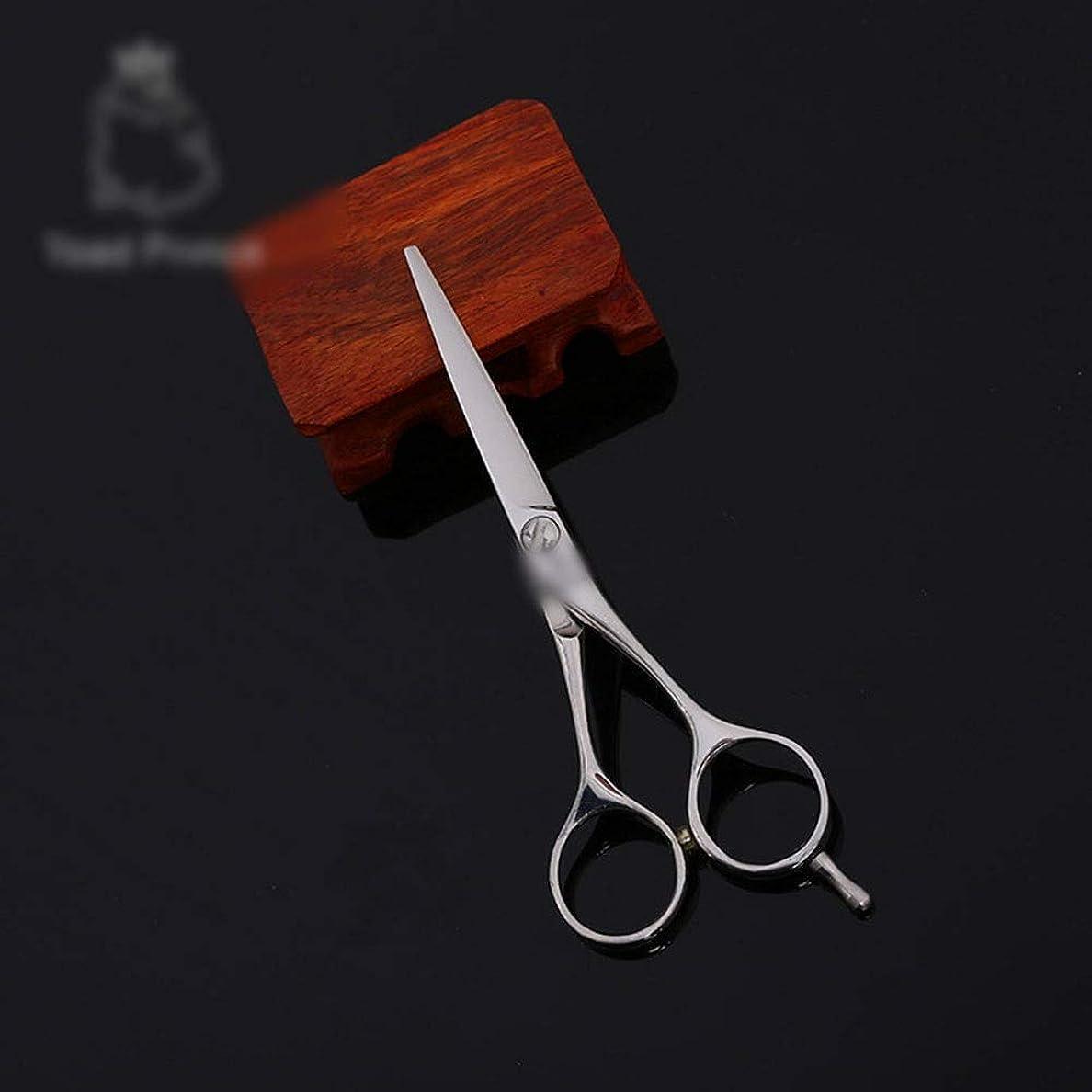 落胆するストラップ宝石Hairdressing 高品質6インチ美容院プロのヘアカットフラットせん断ヘアカットはさみステンレス理髪はさみ (色 : Silver)